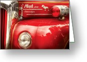 Firewomen Greeting Cards - Fireman - An old fire truck Greeting Card by Mike Savad