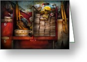 Fire Hose Greeting Cards - Fireman - Fire equipment  Greeting Card by Mike Savad