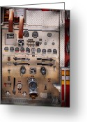 Fire Hose Greeting Cards - Fireman - For guys only  Greeting Card by Mike Savad