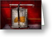 Leatherhead Greeting Cards - Fireman - Indian Pump  Greeting Card by Mike Savad
