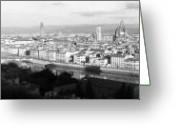 Cityscape Digital Art Greeting Cards - Firenze Greeting Card by Alan Todd