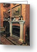 Benjamin Matthijs Greeting Cards - Fireplace Greeting Card by Benjamin Matthijs