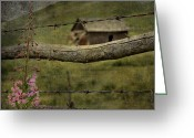 Vintage Photographs Greeting Cards - Fireweed Hill Greeting Card by Jerry Cordeiro