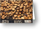 U.s. National Forest Greeting Cards - Firewood Hauled From Clearcut On Truck Greeting Card by Gerry Ellis
