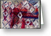 4th July Mixed Media Greeting Cards - Firework diamonds  Greeting Card by Kimanthi Toure