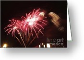 Nights Greeting Cards - Firework display Greeting Card by Bernard Jaubert