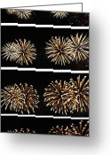 4th July Digital Art Greeting Cards - Firework lifecycle 1 Greeting Card by Meandering Photography