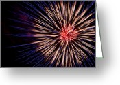 Victoria Wise Greeting Cards - Firework Greeting Card by Victoria Wise