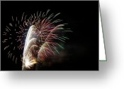 Greaves Greeting Cards - Fireworks 1 Greeting Card by John  Greaves