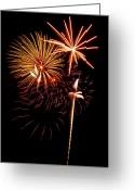 4th Greeting Cards - Fireworks 1 Greeting Card by Michael Peychich