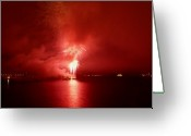 Eutemey Greeting Cards - Fireworks 17 Greeting Card by Kendall Eutemey