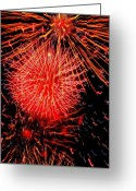 4th July Digital Art Greeting Cards - Fireworks Abstraction 2 Greeting Card by Beth Akerman