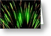 4th July Digital Art Greeting Cards - Fireworks Abstraction 5 Greeting Card by Beth Akerman