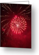 Pyrotechnics Greeting Cards - Fireworks Greeting Card by Amy Glover Bryant