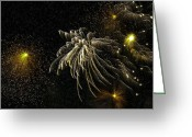 Pyrotechnics Digital Art Greeting Cards - Fireworks As I See Them  Greeting Card by F Leblanc