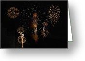 4th July Greeting Cards - Fireworks Greeting Card by Bill Cannon
