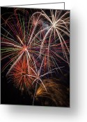 4th July Greeting Cards - Fireworks display Greeting Card by Garry Gay