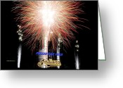 Finale Greeting Cards - Fireworks Finale Greeting Card by Robert Harmon