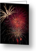 4th Photo Greeting Cards - Fireworks Greeting Card by Garry Gay