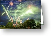 Pyrotechnics Greeting Cards - Fireworks Greeting Card by Harry Page