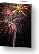 4th July Greeting Cards - Fireworks in celebration  Greeting Card by Garry Gay