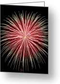 Pyrotechnics Greeting Cards - Fireworks IV Greeting Card by Malania Hammer