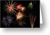Nights Greeting Cards - Fireworks Greeting Card by Jeff Kolker