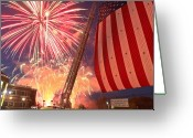 Ridgewood Greeting Cards - Fireworks Greeting Card by Jim DeLillo