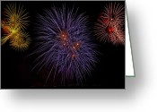 New-year Greeting Cards - Fireworks Greeting Card by Joana Kruse