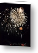 Finale Greeting Cards - Fireworks Greeting Card by Michelle Calkins