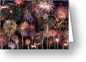 Finale Greeting Cards - Fireworks Spectacular II Greeting Card by Ricky Barnard