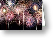 Finale Greeting Cards - Fireworks Spectacular Greeting Card by Ricky Barnard