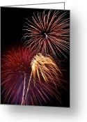 4th Greeting Cards - Fireworks Wixom 3 Greeting Card by Michael Peychich