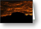 Lewistown Greeting Cards - Firey Sky Greeting Card by Sheri Bartoszek