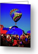 Balloon Fest Greeting Cards - First Ascension Greeting Card by David Hahn