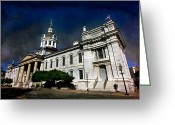 Kingston City Hall Greeting Cards - First Capital of Canada Greeting Card by Michel Soucy