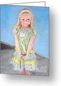 School Days Greeting Cards - First Day of Kindergarten Greeting Card by Susan  Clark