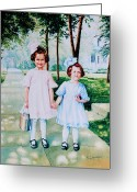 School Days Greeting Cards - First Day of School Greeting Card by Hanne Lore Koehler