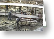 Kitty Digital Art Greeting Cards - First Flight Wright Brothers Greeting Card by Randy Steele