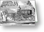 (first Lady) Greeting Cards - First Lady Carriage, 1851 Greeting Card by Granger