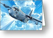 C130 Greeting Cards - First Lady Greeting Card by Charles Taylor