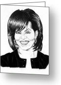 First-lady Drawings Greeting Cards - First Lady Greeting Card by Jeff Stroman
