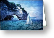 Lianne_schneider Fine Art Print Greeting Cards - First League Out From Land Greeting Card by Lianne Schneider