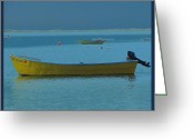 The Cape Greeting Cards - first light - Cape Cod Bay Greeting Card by Rene Crystal