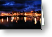 Kernow Greeting Cards - First Light at Padstow Greeting Card by Carl Whitfield