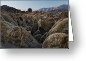 Warm Greeting Cards - First Light Over Alabama Hills California Greeting Card by Steve Gadomski