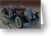 1929 Roadster Greeting Cards - First Model J Greeting Card by Bill Dutting