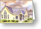 Christ Greeting Cards - First Presbyterian Church Ironton Missouri Greeting Card by Kip DeVore