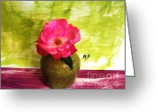 Lime Photo Greeting Cards - First Rose Of The Season Greeting Card by Marsha Heiken