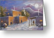 Jerry Mcelroy Greeting Cards - First Snow Greeting Card by Jerry McElroy